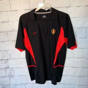Belgium URBSFA KBVB Away Nike Soccer Jersey Black